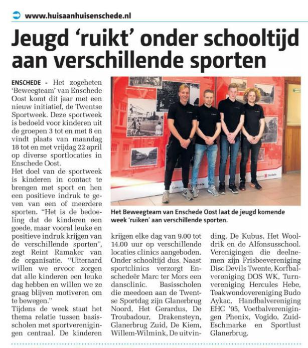 Disc Devils Twente Enschede Huis aan huis Twentse Sportweek