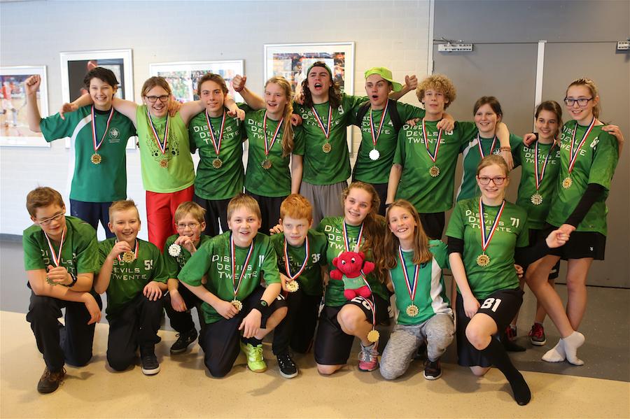 Disc Devils Twente Enschede Vertigo Eindhoven kampioenen 2016 2017 Ultimate Frisbee