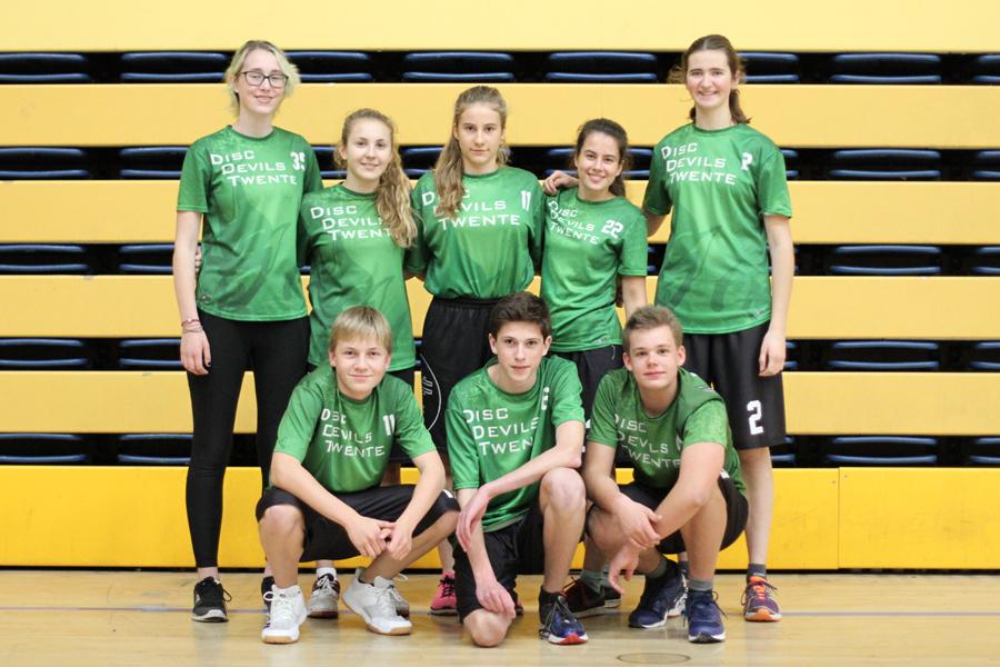 Indoor Jeugdcompetitie U17 Ultimate Frisbee Disc Devils Twente CSI Kamen