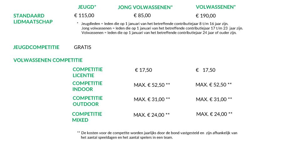 Lidmaatschap en contributie 2018 Disc Devils Twente Enschede Ultimate Frisbee